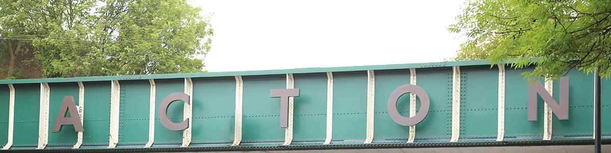 Acton bridge sign