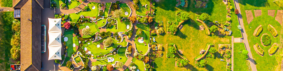 Aerial Acton golf and park