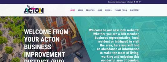 The Your Acton BID website