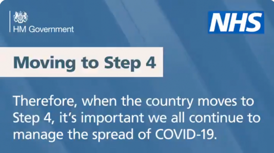 Moving to step 4 Covid message.